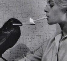 The Birds - Tippi Hendren & Crow Smoking Sticker