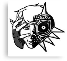 Majora Mask Link Canvas Print