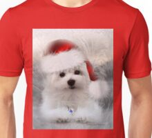 Hermes the Maltese at Christmas Unisex T-Shirt