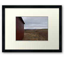 Cloudy Prairie Framed Print