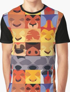 Minimalist Lion King Icons Graphic T-Shirt