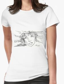 Beautiful Girl With Diadem Womens Fitted T-Shirt