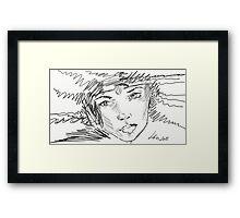 Beautiful Girl With Diadem Framed Print