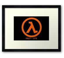 Half - Life Lambda Framed Print