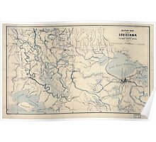 Civil War Maps 1127 Military map of part of Louisiana Poster