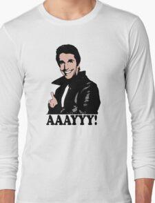 The Fonz Happy Days Aaayyy! T-Shirt Long Sleeve T-Shirt