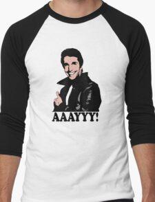 The Fonz Happy Days Aaayyy! T-Shirt Men's Baseball ¾ T-Shirt