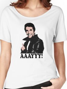 The Fonz Happy Days Aaayyy! T-Shirt Women's Relaxed Fit T-Shirt