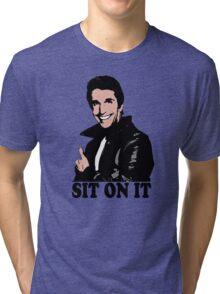 The Fonz Happy Days Sit On It T-Shirt Tri-blend T-Shirt