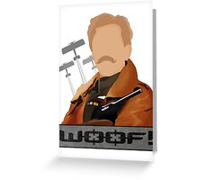 Lord Flashheart design Greeting Card