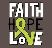 Faith Hope Love - Lymphoma Cancer Awareness Unisex T-Shirt