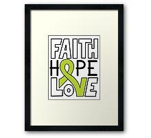 Faith Hope Love - Lymphoma Cancer Awareness Framed Print