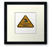 Alligator teeth sign Framed Print