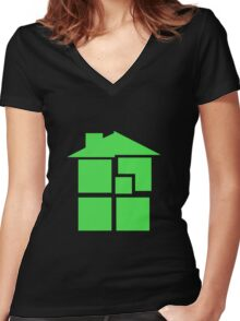 Homestuck - Sburb (Black) Women's Fitted V-Neck T-Shirt