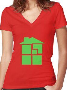 Homestuck - Sburb (Black) Women's Fitted V-Neck T-Shirt