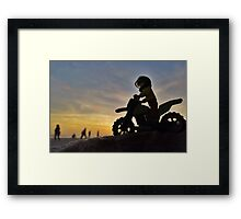 Sunset ride Framed Print