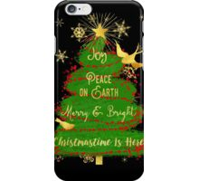 Christmas Tree, Joy, Peace on Earth, text art iPhone Case/Skin