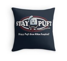 stay puft, logo, ghostbusters, movie, movie t-shirt Throw Pillow