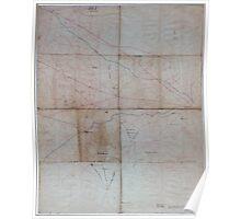 Civil War Maps 1164 Military reconnaissance of Virginia Poster