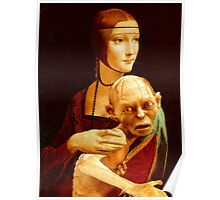 Lady with Gollum Poster