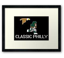 Classic Philly - 8 Bit Retro Framed Print