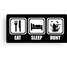 Eat Sleep Duck Hunting Canvas Print