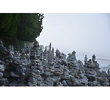 Rock Stacks in Cave Point Park Photographic Print