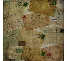 Vintage Postcards Photographic Print