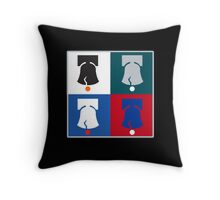 Philly Phour Bells - Liberty Bells for your Favorite Philadelphia Teams! Throw Pillow
