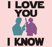 Star Wars Han Solo and Princess Leia 'I love You, I Know' design Baby Tee