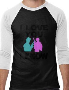Star Wars Han Solo and Princess Leia 'I love You, I Know' design Men's Baseball ¾ T-Shirt