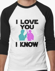 Star Wars Han Solo and Princess Leia 'I love You, I Know' design Men's Baseball ¾ T-Shirt