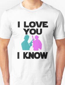 Star Wars Han Solo and Princess Leia 'I love You, I Know' design Unisex T-Shirt