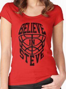 Believe In Steve - Philadelpia Hockey - GO FLYERS Women's Fitted Scoop T-Shirt