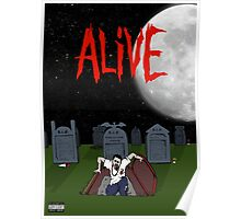 Alive by Regular Nate Merch Poster