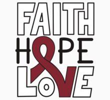 Faith Hope Love - Multiple Myeloma Cancer Awareness One Piece - Long Sleeve