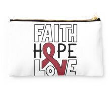 Faith Hope Love - Multiple Myeloma Cancer Awareness Studio Pouch