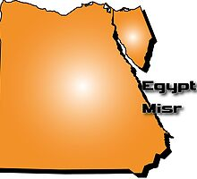 Egyptian map in 3D style by Peter Zillinger