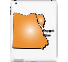 Egyptian map in 3D style iPad Case/Skin