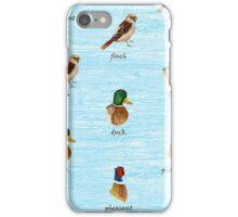 Woodland Birds iPhone Case/Skin