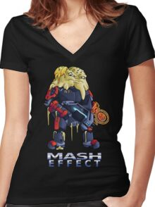 Mash Effect Women's Fitted V-Neck T-Shirt