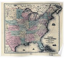Civil War Maps 0316 Colton's United States shewing the military stations forts c Poster