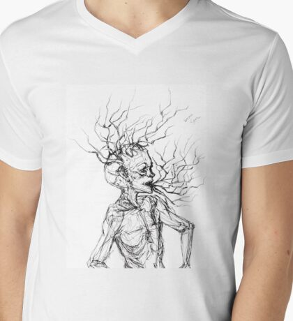 Brain Stem Mens V-Neck T-Shirt
