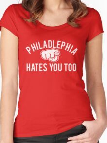 Philadelphia Hates You Too Women's Fitted Scoop T-Shirt