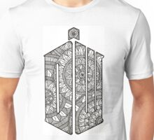 DoctorWho Tardis Logo Mandala Design Unisex T-Shirt