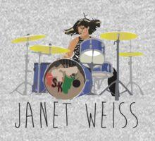 janet weiss she is amazin One Piece - Long Sleeve