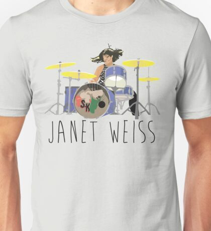 janet weiss she is amazin Unisex T-Shirt