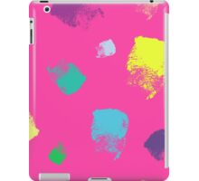 Dry brush hand drawn sketch artsy background neon colours iPad Case/Skin