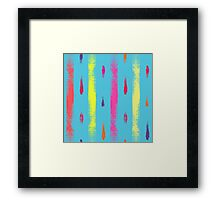 Dry brush hand drawn sketch artsy background neon colors Framed Print