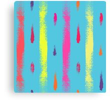 Dry brush hand drawn sketch artsy background neon colors Canvas Print